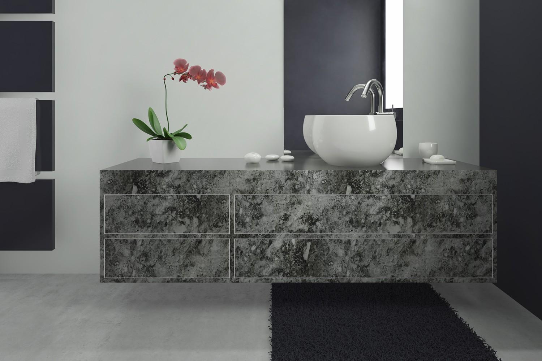 Pellicola adesiva marmo black larg 30 cm al metro lineare for Pellicola adesiva mobili