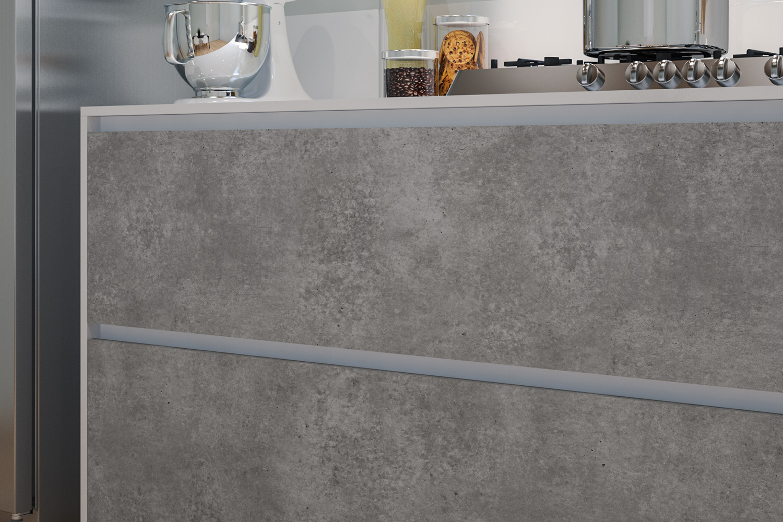 Pellicola adesiva cemento larg 60 cm al metro lineare for Pellicole adesive per mobili