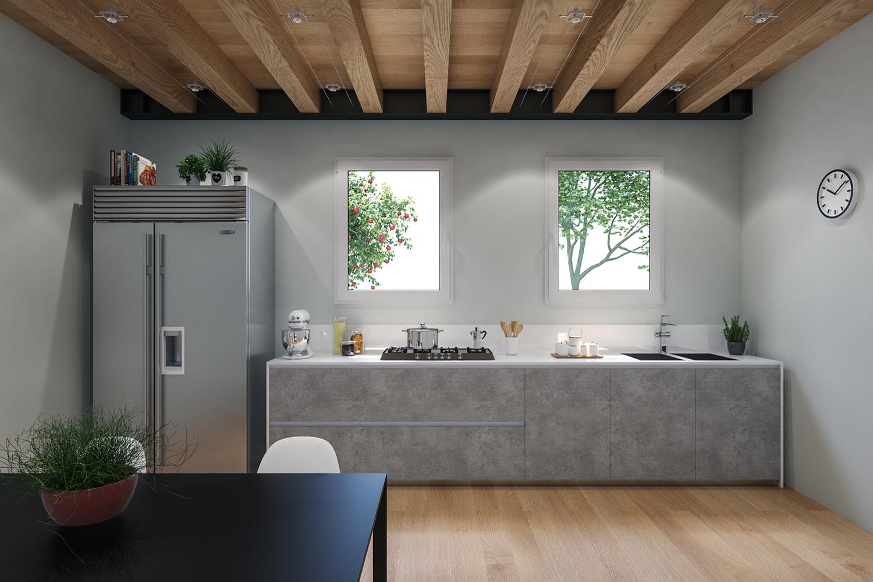 Pellicola adesiva cemento larg 90 cm al metro lineare for Pellicola adesiva effetto legno