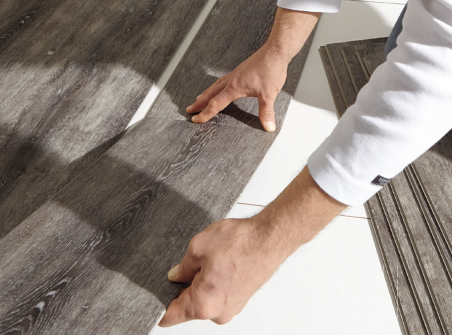 Click design rovere grigio scuro pavimento parquet for Spessore parquet