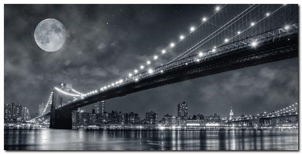 quadro janis lacis 39 ponte di brooklyn di nottet new york