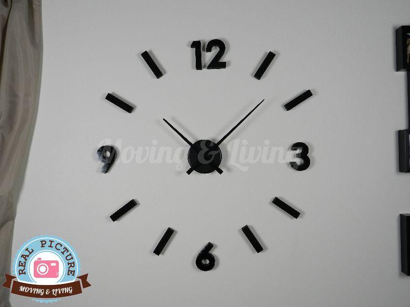 Orologio da parete design adesivo for Orologio stickers