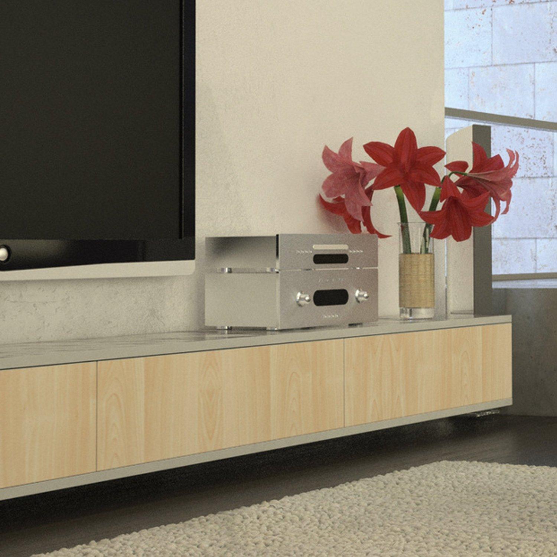Pellicola adesiva acero naturale 45 cm x 2 mt in vinile effetto legno per intern ebay - Pellicola adesiva per mobili ...