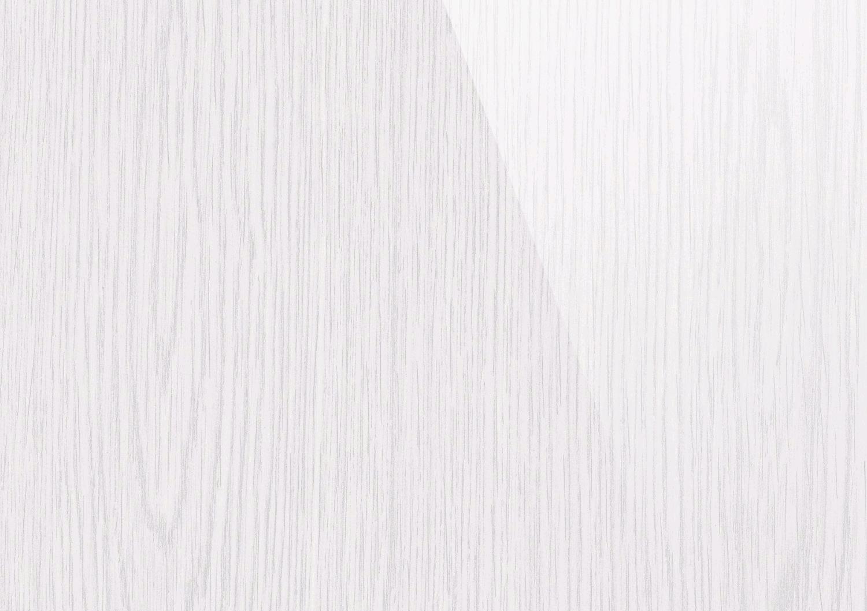 Pellicola Adesiva Frassino Bianco Lucido larg. 90 cm in vinile effetto legno ...