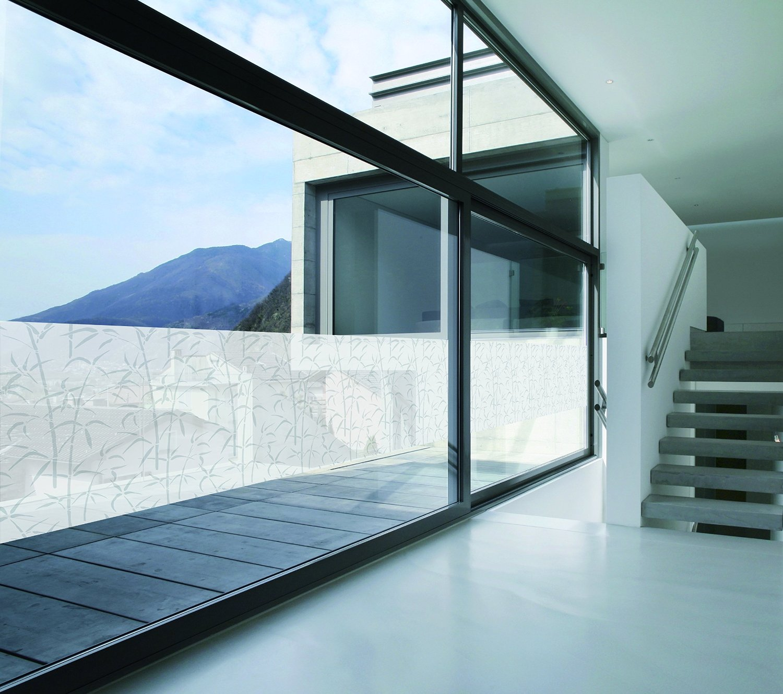 Pellicola adesiva trasparente per vetri bamboo 45 cm x 2 - Pellicola per doccia ...