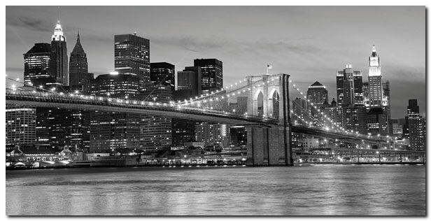quadro ponte di brooklyn di notte 39 stampa su tela canvas