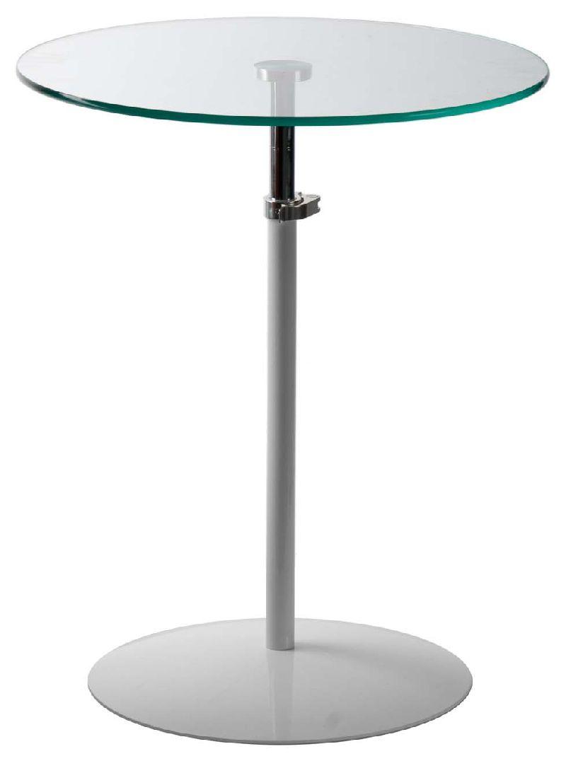 Tavolo tondo regolabile in metallo e vetro idea per la - Idea per la casa ...