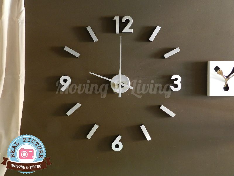 Vendita orologio adesivo stick clock parete alluminio for Orologi da parete adesivi