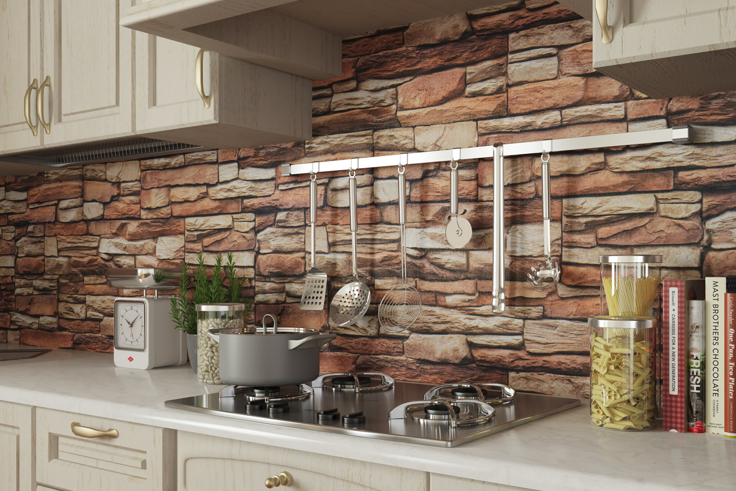 Stunning Cucina Con Parete In Pietra Gallery - Skilifts.us ...