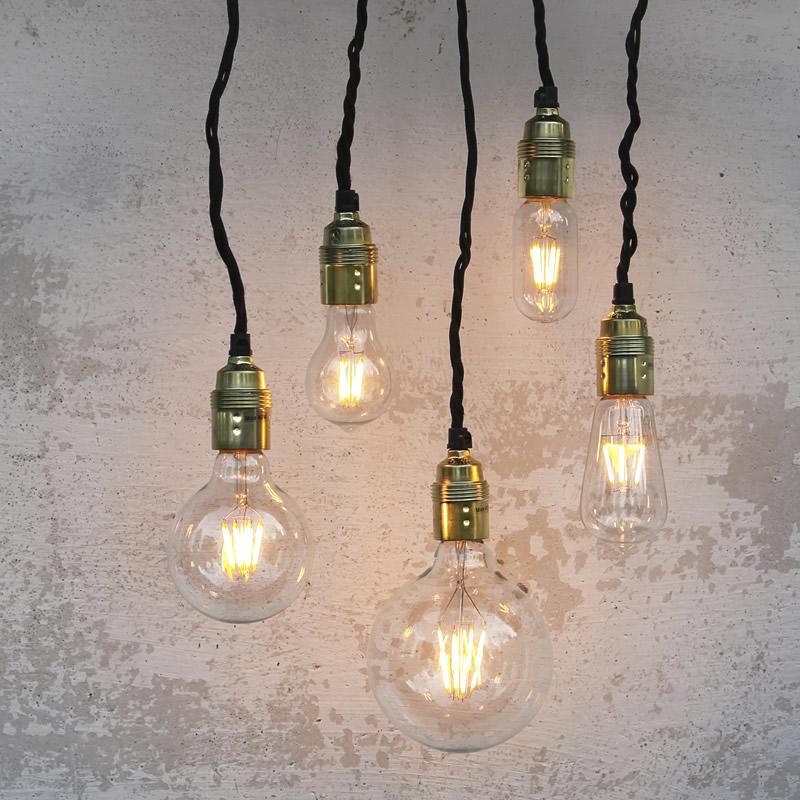 Vendita lampadina maxi globo 125mm a led vintage filamento for Offerte lampadine a led e 27