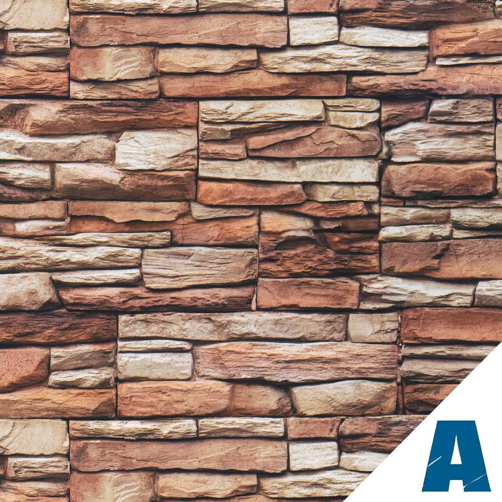 Vendita artesive st 02 pietra rustico larg 100 cm al metro lineare pellicola adesiva effetto - Carta per coprire mobili ...