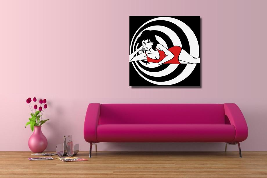 Vendita quadro margot fujiko ellisse su canvas ritoccato a mano