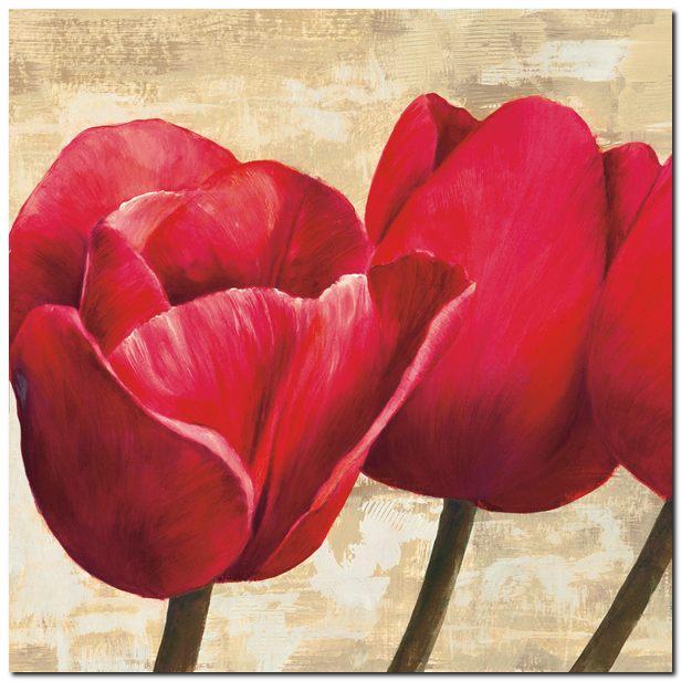 Vendita Cynthia Ann \'Tulipani Rossi Chiusi\' - Quadro Stampa su ...