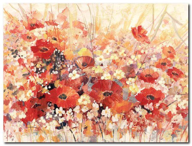 Vendita Luigi Florio \'Campo di fiori\' - Quadro Stampa su Tela Canvas ...